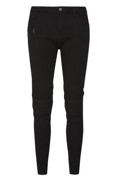 Primark - Zwarte spijkerbroek met kniestukken