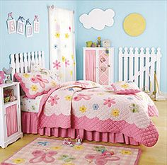 Fenching along the wall is cute. Decorating theme bedrooms - Maries Manor: Garden Themed Bedrooms