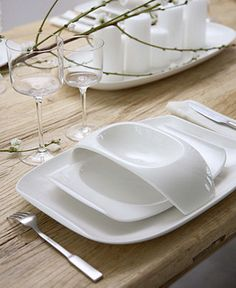 "Villeroy & Boch ""Urban Nature"" Dinnerware Collection - White Dinnerware - Dining & Entertaining - Macy's"
