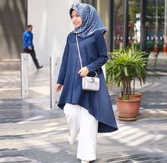Hijab Chic, , Le Style Hijab, Mode Musulman, Mode Hijab, Pantalon Large  Pattes, Tops Tunique, Jambes Larges, You Know That