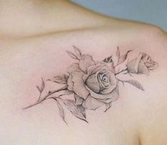 Rose is the king of flowers and therefore rose tattoos have huge popularity among tattoo lovers. While there are many rose tattoo ideas still people get confused and end up with a weird and sometimes ugly look rose tattoo. Colar Bone Tattoo, Collar Bone Tattoo Quotes, Rose Tattoos For Women, Tattoo Designs For Women, Tattoos For Guys, Forarm Tattoos, Forearm Tattoo Men, Cross Tattoos, Wing Tattoos