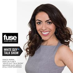 Loving #fusetv host #GraceParra on the new #WhiteGuyTalkShow and how she rocked our Limited Edition Zhuli Hoop Earrings. Thanks Esther Pak! #WCW #alexwoo #HoopEarrings #savorsilver #wgts