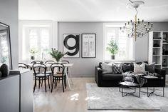 Emma Melin säljer sin fina lägenhet i Bromma kvadrat) Scandinavian Interior Design, Scandinavian Home, Dining Room Design, Decoration, Interior Inspiration, Sweet Home, Gallery Wall, New Homes, House Design