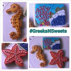 Under the Sea themed cookies..... GREEKSNSWEETS by GreeksNSweets, $39.00