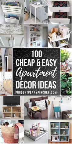 cheap diy home decor These DIY apartment decorating ideas on a budget will help you decorate for less and maximize the use of small space in your apartment. There are apartment decor ideas for the whole home including bedroom, bathroom and living room. Boho Apartment, Simple Apartment Decor, Diy Home Decor For Apartments, Apartment Decorating On A Budget, Diy Home Decor On A Budget, Small Apartments, Cheap Home Decor, Small Spaces, Decorate Apartment