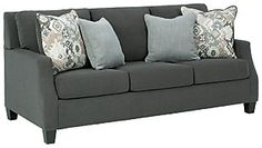 Darcy Sofa | Ashley Furniture HomeStore Charcoal Sofa, Queen Sofa Sleeper, Signature Design, At Home Store, Toss Pillows, Living Room Sets, Fabric Sofa, Sofa Set, Sofa Design
