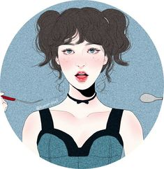 Wendy Kpop Drawings, Cute Drawings, Japanese Drawings, Wendy Red Velvet, Korean Art, Wow Art, Red Aesthetic, Korean Aesthetic, Girl Wallpaper
