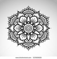 Find Vector Abstract Flower Mandala Vintage Decorative stock images in HD and millions of other royalty-free stock photos, illustrations and vectors in the Shutterstock collection. Simple Mandala Tattoo, Mandala Tattoo Design, Mandala Art Lesson, Mandala Drawing, Doodle Patterns, Henna Patterns, Flower Mandala, Abstract Flowers, Mehndi