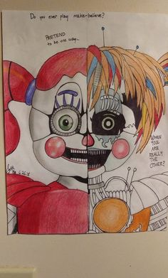 Funtime Freddy FNAF Coloring Pages sienna board Fnaf