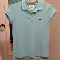 Lacoste polo shirt size 34 Light turquoise short sleeve polo shirt size 34 Lacoste Tops
