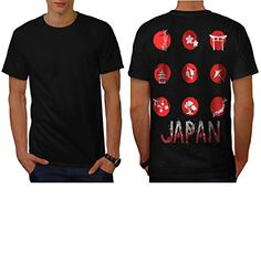 Japan Style Symbol Eastern Art Men NEW L Tshirt Back  Wellcoda -- You can find out more details at the link of the image.