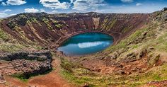 Kerid, Volcanic Crater in Iceland.  #ExtremeIceland #Iceland