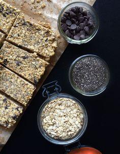 Chocolate Chip Chia Seed Granola Bars via @runonrealfood