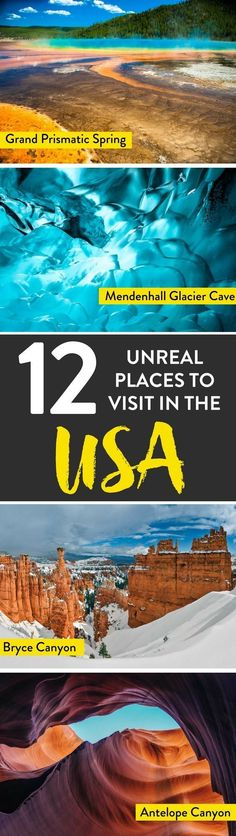USA TRAVEL   Thinking of traveling around the US? Here are a few unbelievable destinations which have to make it to your USA bucket list. #TravelDestinationsUsaBeach #TravelDestinationsUsaAmerica