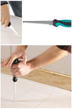 Fierăstrău manual pentru pentru decuparea în plăcile de gips carton.  Puteți decupa rapid.😃😃 👉Articol 4033000👈   #atelier #casa #scule #renovare #DIY  #unelte #wolfcraft_romania Tools, Atelier, Gypsum, Instruments