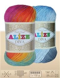Microfibre acrylic Yarns , Alize Diva Batik Hand-Knitting Yarns ,  knitting crochet 350m 100g , Choose Color