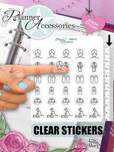 Birthday Planner Stickers for your Live Planner, Erin Condren, Happy Planner, Filofax or Kikki K. or whatever planner you love. <> Paper Sheet Icon Sticker size in height : <> We offer high quality clear or matte paper. The clear paper has a transparent Stair Stickers, Clear Stickers, Unicorn Stickers, Kawaii Stickers, Cute Planner, Happy Planner, Planner Ideas, Filofax, Planner Stickers