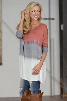 Nothing Compares Ombre Dolman Tunic - Rust from Closet Candy Boutique #fashion #shop