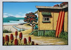 Tony Ogle is one of New Zealand's most talented and original landscape artists. His prints, in particular his coastal scenes, are notable for their vibrancy and captivating composition. No other New Zealand artist captures the unique allure and beauty of this country's coastal scenes so distinctively.