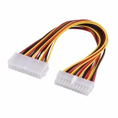 ATX Mining 30cm 24 Pin Dual PSU Power Supply Extension Cable for Computer Adaptor Cable Connector for Mining 24Pin 20+4pin