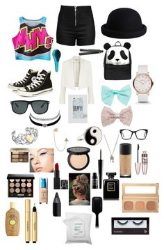 """#55"" by b3ttyw3ldon on Polyvore featuring Love Moschino, Chloé, Converse, ASOS, Pieces, Wet Seal, Ray-Ban, Francesca's, Spitfire and Charlotte Russe"