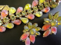 Peach Yellow Givre KRAMER NY Bracelet-Earrings Set