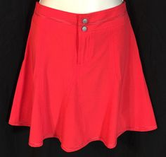 TITLE NINE Size 2 Golf Tennis Skirt Skort Red Athletic Skirt w/Shorts Small    eBay