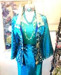 amazing thongs can be made with a sari...silk jacket and skirt----