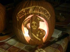 My Sons of Anarchy Pumpkin - 2011