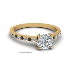 1 Ct Cushion Diamond 14k Yellow Gold Solitaire Engagement Wedding Ring Certified #discoverdiamonds #Engagement