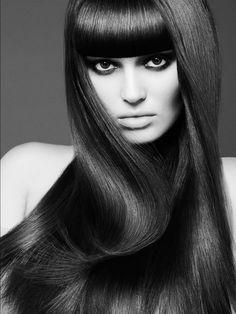 Black and White Hair beauty shot, Hair by Ashley Lynn Hall - Modern Long Curly Hair, Wavy Hair, Shot Hair Styles, Long Hair Styles, Rebonded Hair, Hair Photography, Hair And Beauty Salon, Silk Hair, Hair Shows