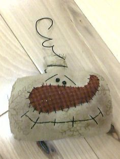 Primitive Snowman Christmas Ornaments