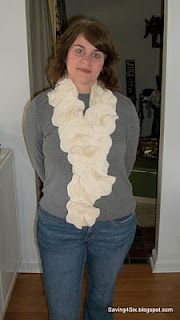 Felt Flower Scarf. I have a maroon one and made a yellow one for Bub's gf.