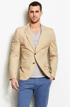 Cotton Dress Blazer - Jackets  Blazers - Mens - Armani Exchange