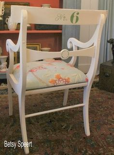 Betsy Speert's Blog: Painting a Dining Chair