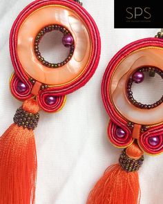 """Suzy Palhazy Soutache on Instagram: """"When I look at this pair of earrings they remind me of the beautiful summer evenings with shades of orange, red, yellow and purple with a…"""" Soutache Earrings, Drop Earrings, Orange Red, Yellow, Summer Evening, Suzy, Everyday Look, That Look, Shades"""