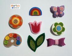 felt badges / brooches by Marta's Art