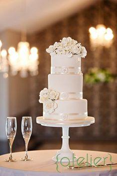 Amazing White Cakes   #Weddings   Photos by AK Cake Design
