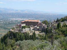 Mystras in Sparta, Greece