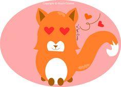 fox, a cute fox.