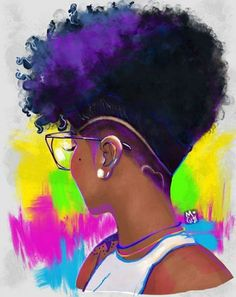 heart fade by mogigi i created this illustration in procreate part of my klassy kinks series naturalhair blackart illustration procreate nat # Black Love Art, Black Girl Art, Black Girl Magic, Art Girl, African American Art, African Art, Natural Hair Art, Natural Hair Styles, Arte Black