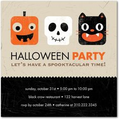Halloween party invite #halloween