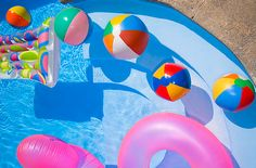 #pool #summer #photography #water #waves #beachball