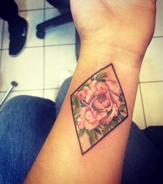 Tattoo peony flower ink