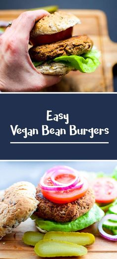 Easy Vegan Bean Burgers (gluten free too). No frying, low fat and just generally brilliant. Recipe link - https://madebyluci.co.uk/easy-vegan-bean-burgers/