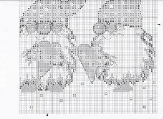 Elf's at Christmas pattern Xmas Cross Stitch, Just Cross Stitch, Cross Stitch Heart, Counted Cross Stitch Patterns, Cross Stitch Designs, Cross Stitching, Cross Stitch Numbers, Theme Noel, Christmas Embroidery