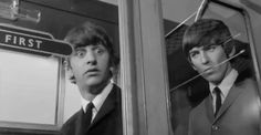 Richard Starkey and George Harrison (A Hard Day's Night screen caps)