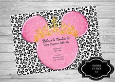Minnie Mouse White Leopard Tiara Princess by TwoAngelsDesigns