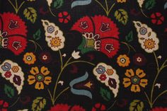 Richloom Tasha Platinum Collection Printed Linen Blend Drapery Fabric in Licorice