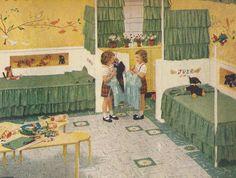 1950s Bedrooms, Vintage Interior Decoration from 1950s Scrapbook: 18 Mid Century Bedrooms